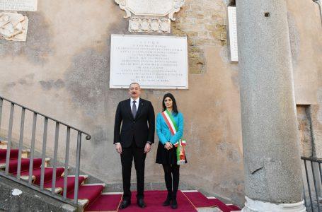 İlham Əliyev Roma meri ilə görüşdü-MƏMMƏDYAROV ONUNLA BƏYANNAMƏ İMZALADI…