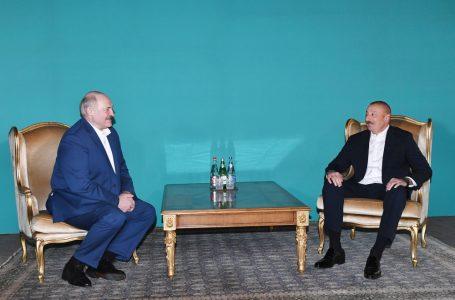 Əliyevlə Lukaşenkonun qeyri-rəsmi-GÖRÜŞÜ – FOTO