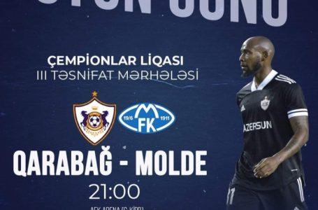 """UEFA Çempionlar Liqası: """"Qarabağ"""" – """"Molde"""" – 5:6 – YENİLƏNİB – (10)"""