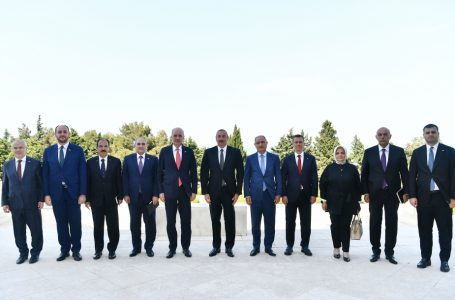 İlham Əliyev AKP sədrinin birinci müavininin rəhbərlik etdiyi nümayəndə heyətini-QƏBUL ETDİ – FOTO