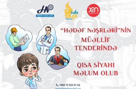 """""""Hədəf Nəşrləri""""nin müəllif tenderində siyahı-MƏLUM OLDU…"""